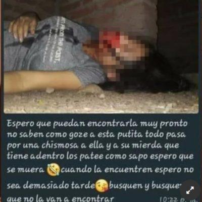 Golpearon a una joven embarazada y le sacaron fotos con el celular.