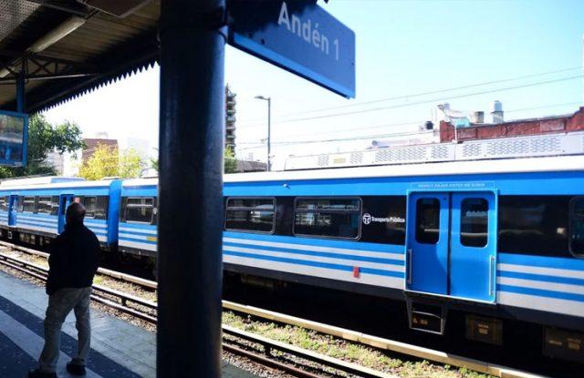 Inició el paro en el tren Sarmiento.