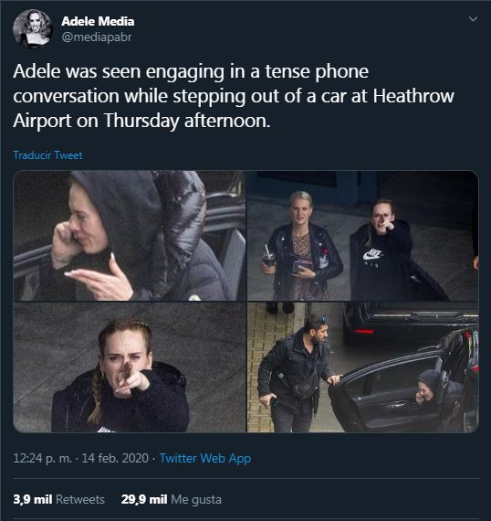 Adele, a victim of the paparazzi: the photos while discussing on the phone