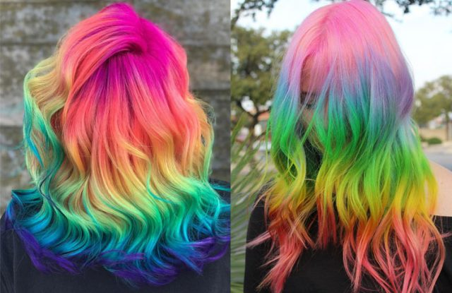 According to Instagram, when you finish the quarantine all of them are going to have the hair color rainbow