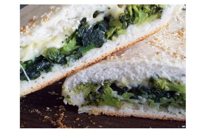 Focaccia rellena con espinacas: una receta deliciosa y con un toque saludable