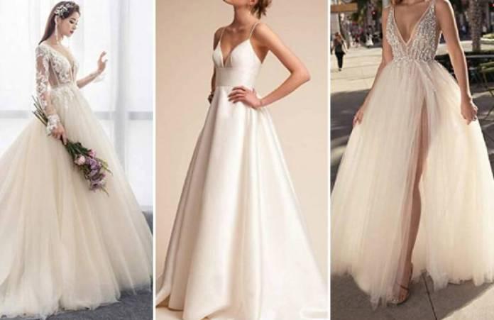 Mostró su vestido de novia y un detalle de flores (en el lugar equivocado) hizo estallar las redes