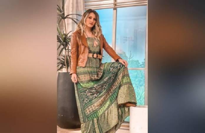 Vestido verde y campera de cuero: el look (súper) canchero con el que Mica Viciconte enamoró