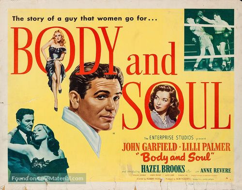 Image result for body and soul movie poster
