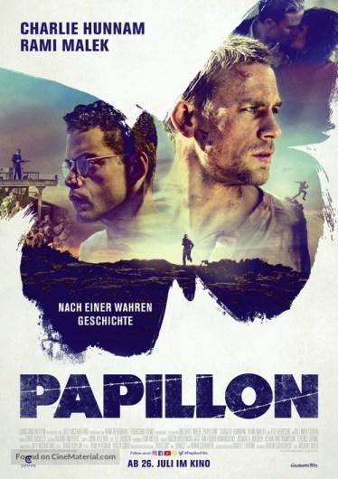 Hasil gambar untuk Papillon 2018 poster