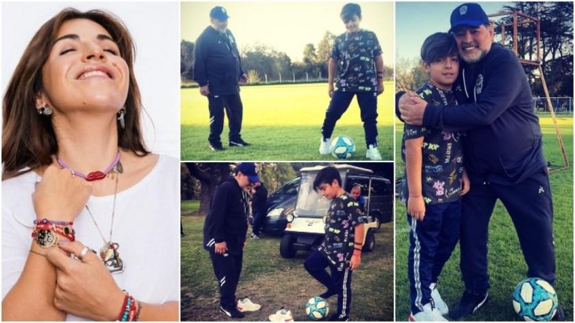 La felicidad de Gianinna Maradona por el reencuentro de Diego con su nieto (Fotos: Instagram)