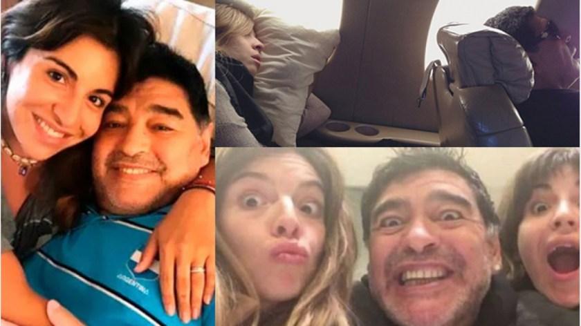 Gianinna compartió una divertida foto con Diego y Dalma.