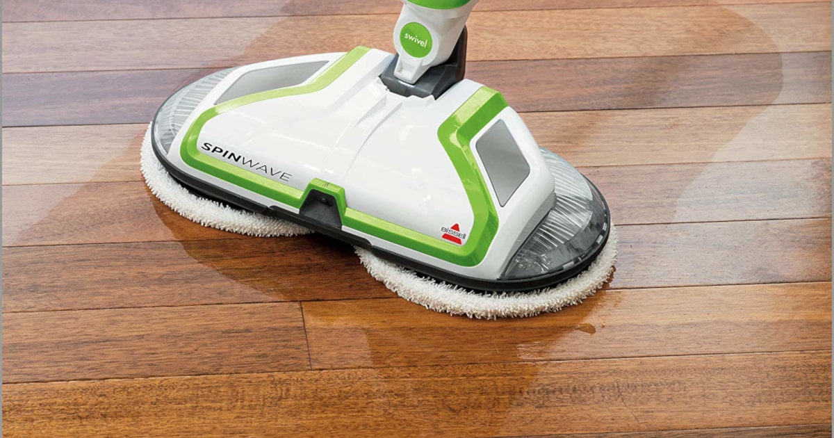 the bissell spinwave spin mop cleanup