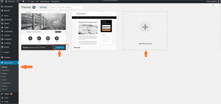 Wordpress - Appearance - Themes__
