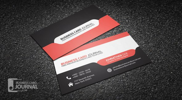 75 free business card templates that are stunning beautiful 18 stylish and modern tab design friedricerecipe Gallery