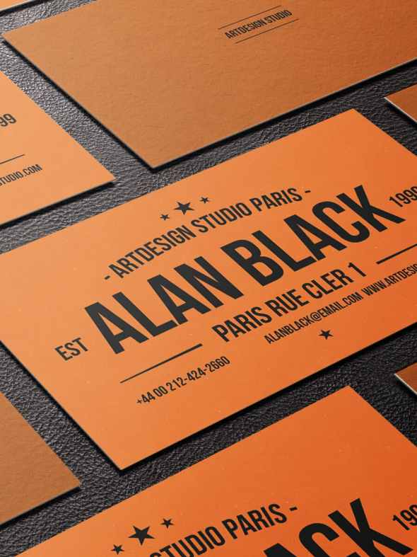 75 free business card templates that are stunning beautiful 30 simple orange and black business card template friedricerecipe Choice Image