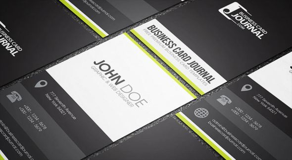 75 free business card templates that are stunning beautiful 35 clean and minimal metro style business card fbccfo Choice Image