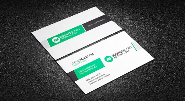 75 free business card templates that are stunning beautiful 36 clean and elegant creative business card template accmission Images