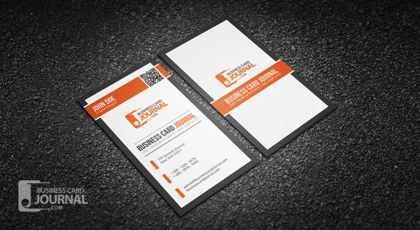 75 free business card templates that are stunning beautiful 39 professional qr code business card template fbccfo Images