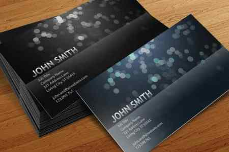 75 Free Business Card Templates That Are Stunning Beautiful 70 blurry circles business card template