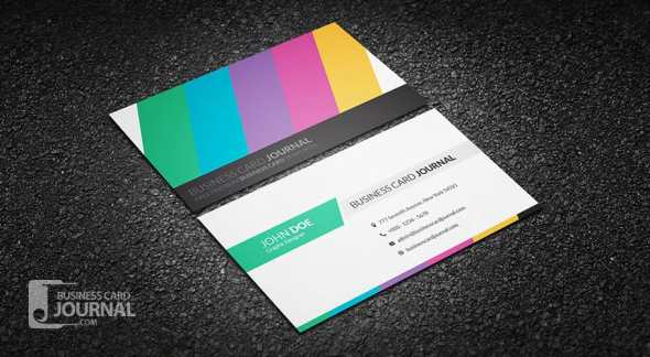 75 free business card templates that are stunning beautiful 9 clean and creative multicolor business card template friedricerecipe Gallery