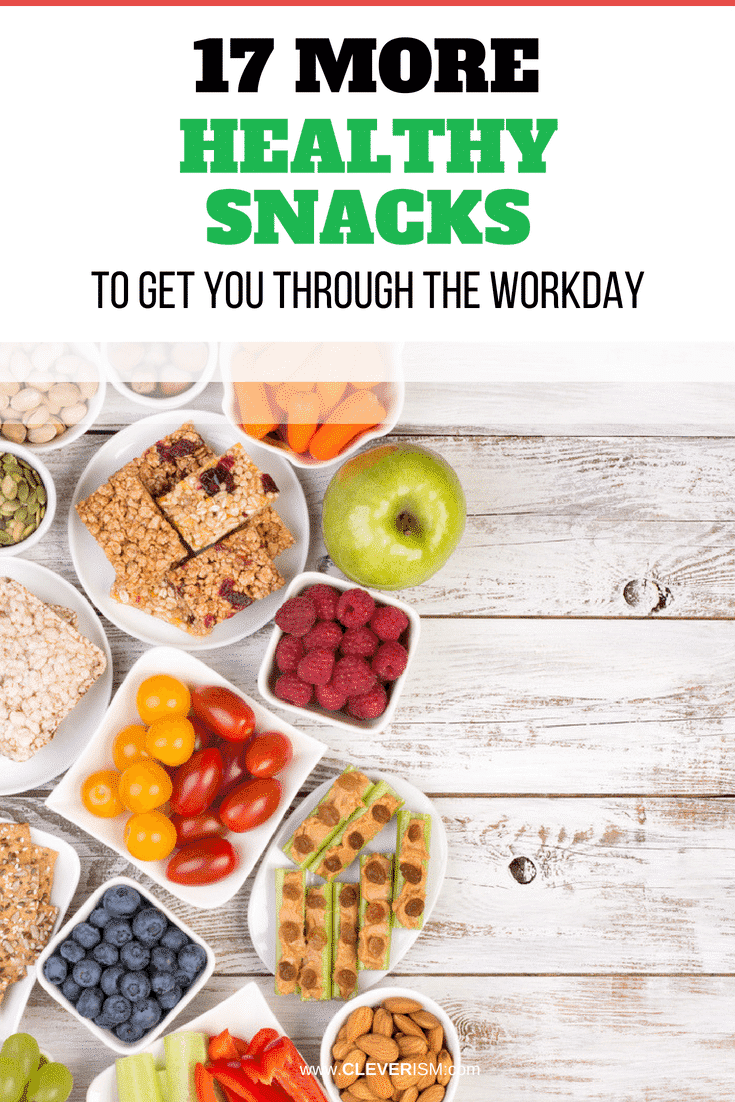 17 More Healthy Snacks to Get You Through the Workday - #HealthySnack #SnackThroughWorkday #SnackAtWork #Cleverism
