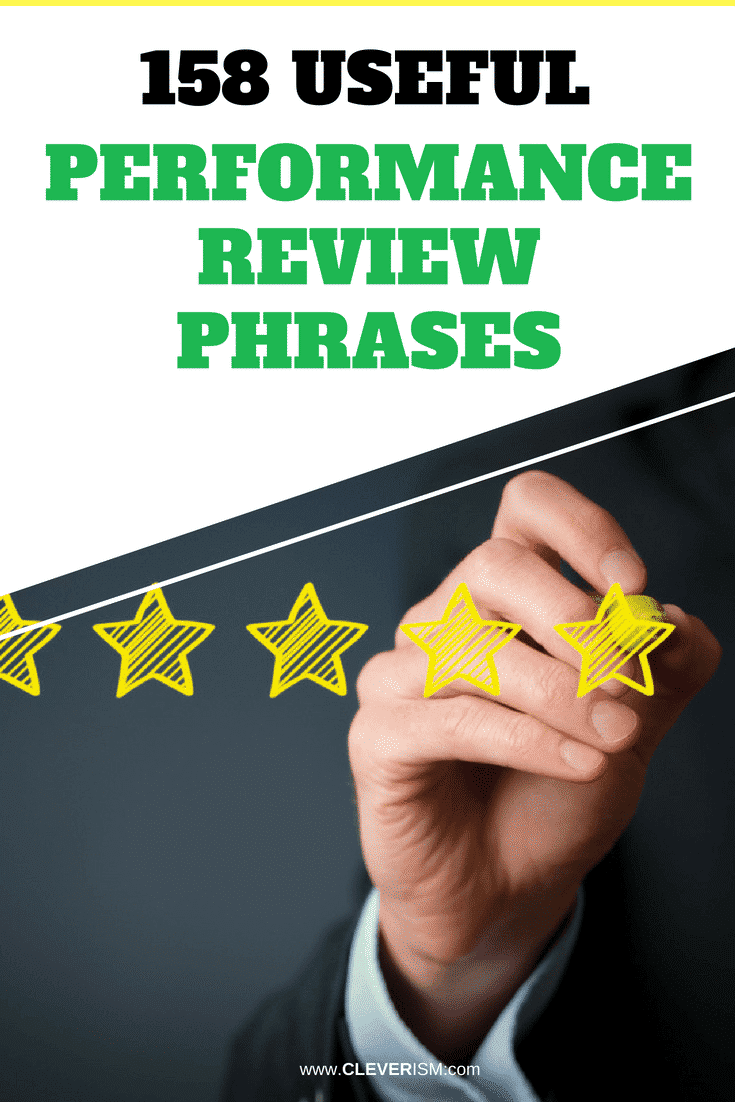 158 Useful Performance Review Phrases - #PerformanceReview #EmployeePerformance #PhrasesInPerformanceReview #Cleverism #Job