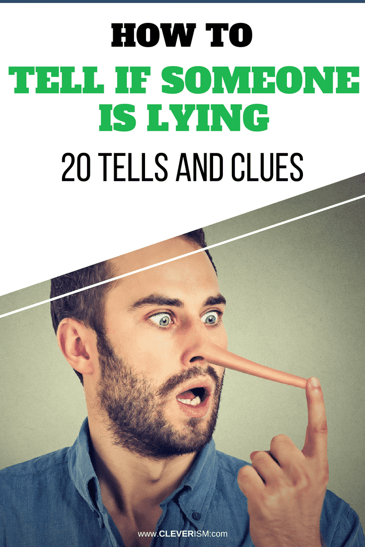 how to tell when a guy is lying