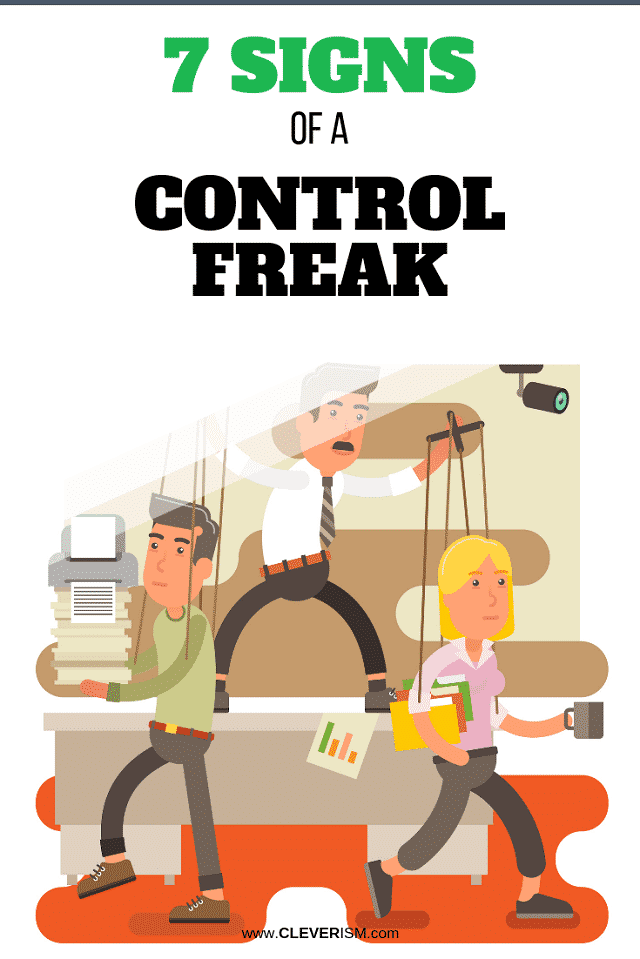 Personality traits of a control freak