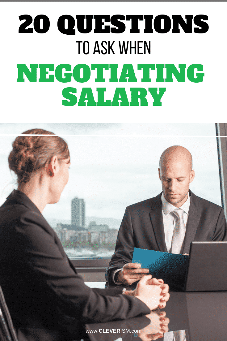 20 Questions to Ask When Negotiating Salary - #SalaryNegotiation #QuestionToAskWhenNegotiatingSalary #Cleverism