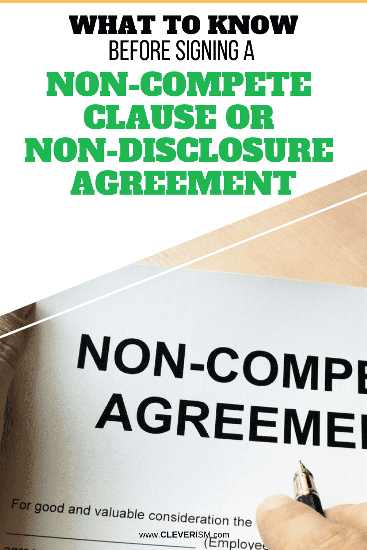 What to Know Before Signing a Non-Compete Clause or Non-Disclosure Agreement - #NonCompeteClause #NonDisclosureAgreement #Cleverism