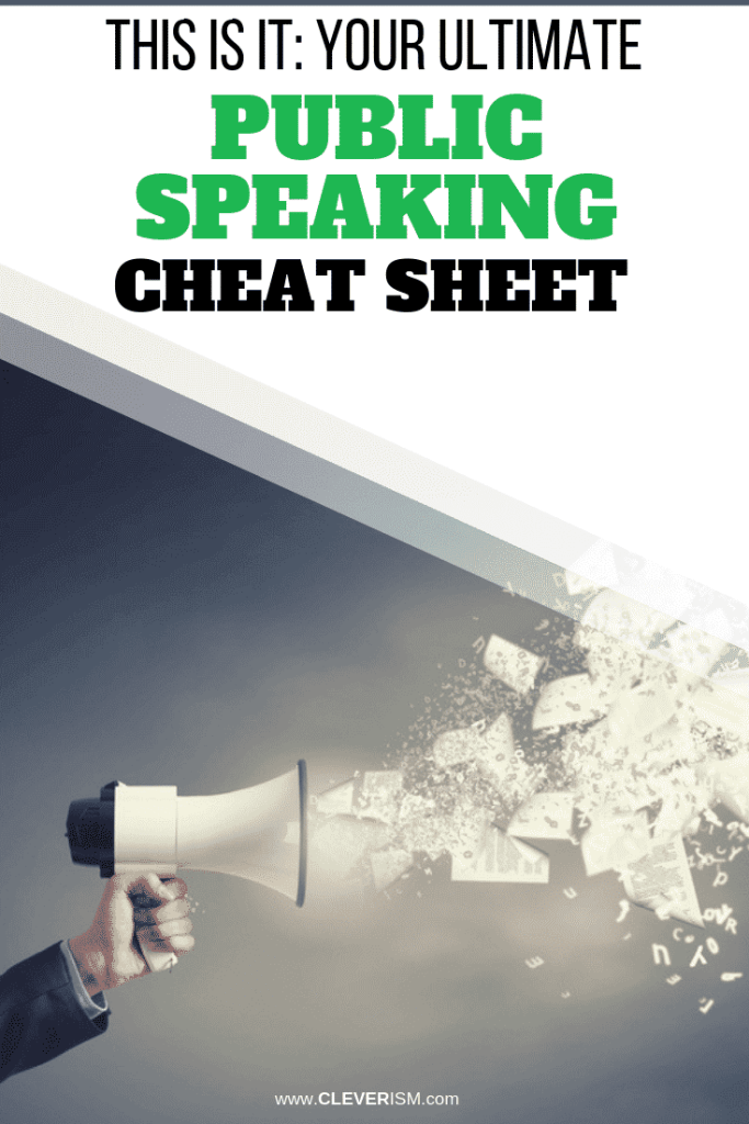 This Is It: Your Ultimate Public Speaking Cheat Sheet