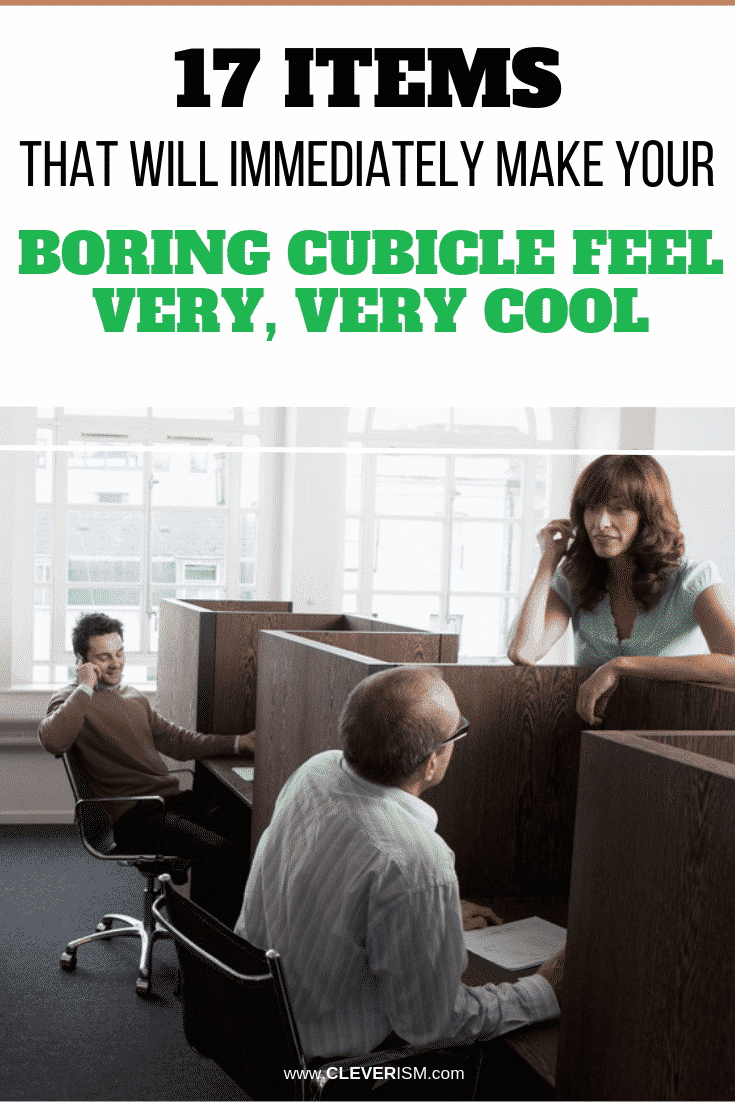 17 Items That Will Immediately Make Your Boring Cubicle Feel Very, Very Cool - #MakingCubicleVeryCool #Cubicle #Cleverism