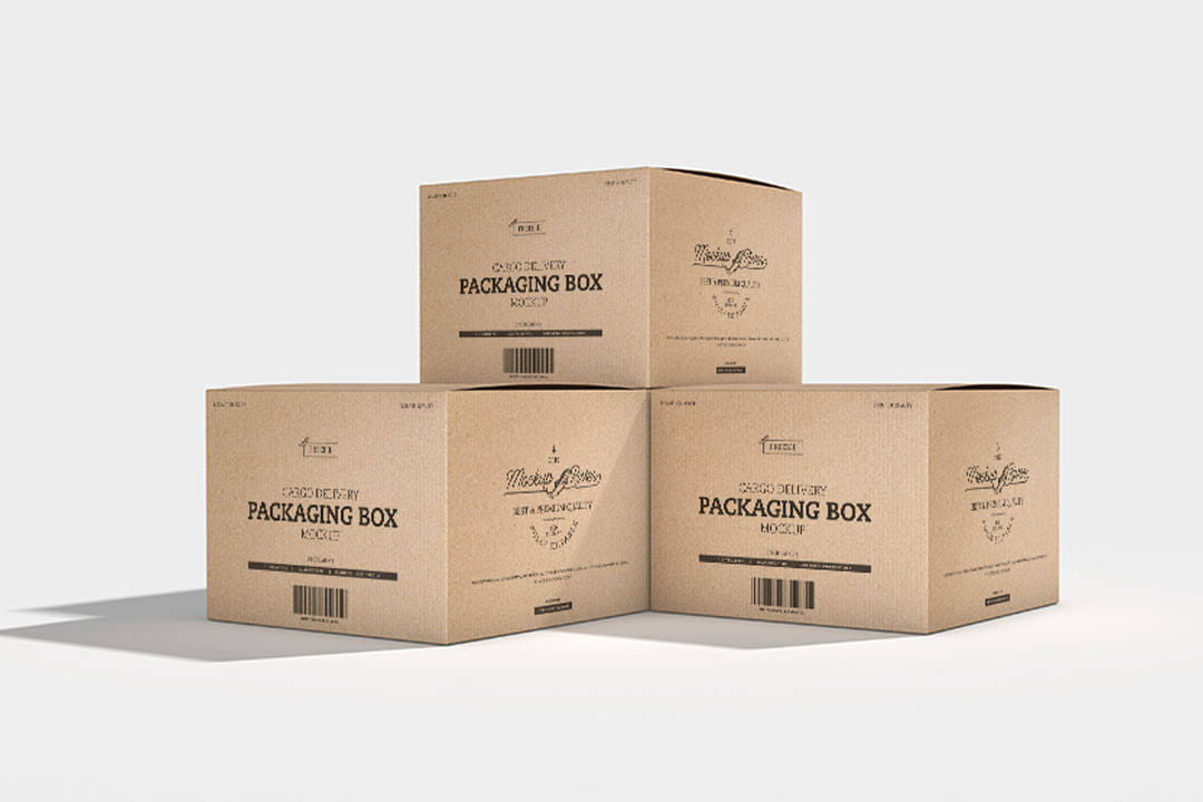 Download Cargo Delivery Packaging Box Mockup - Grapbox™ Free ...