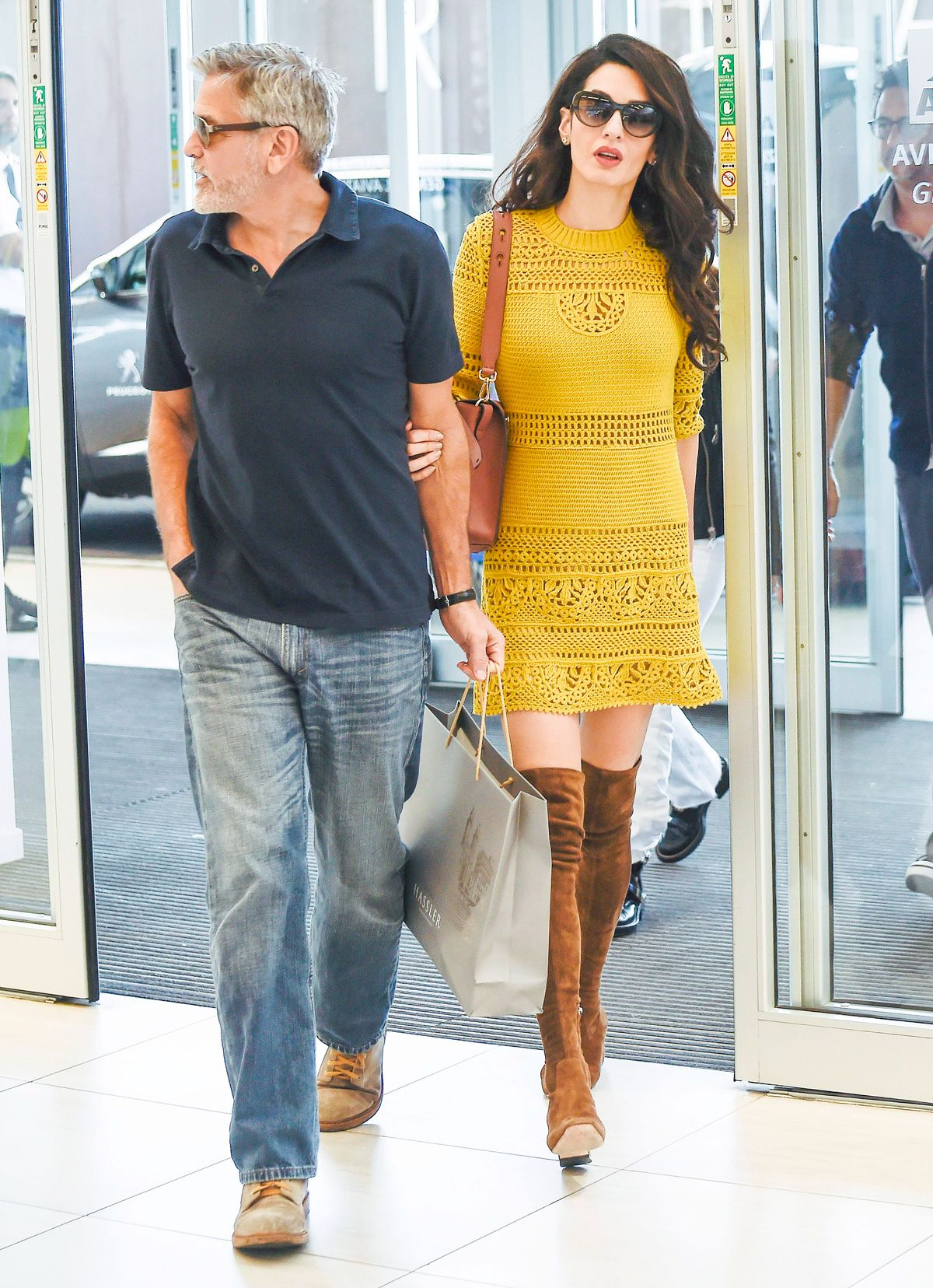 Amal Clooney Wore the Shoes You've Always Avoided Wearing to the Airport