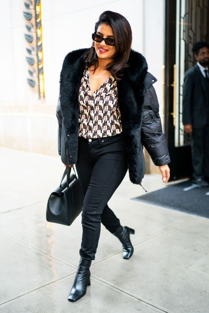 Black Skinny Jeans and These Ankle Boots Are a Priyanka Chopra Outfit Win