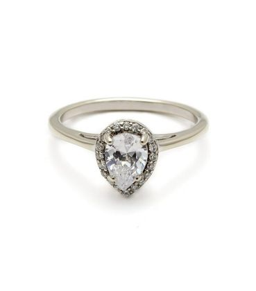 The Engagement Ring Style That Will Look Best on Your Finger     Anna Sheffield Pear Rosette Ring