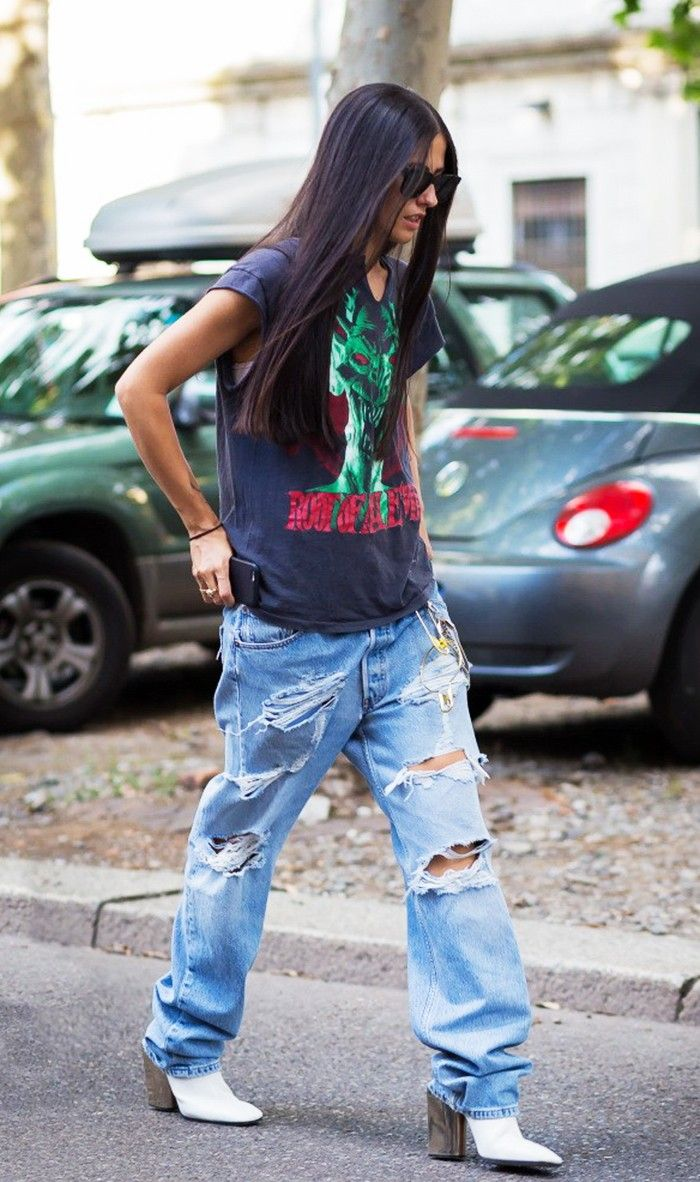 Girls Baggy Jeans Skinny