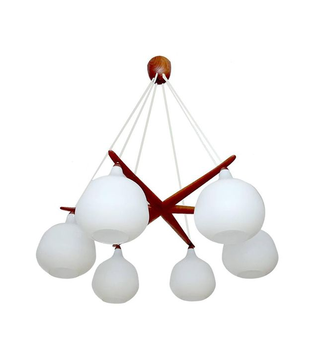 Uno & Osten Kristiansson Very Large Luxus Glass Globes Chandelier