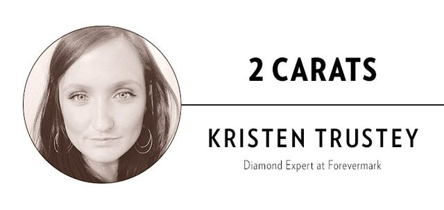 """""""The average engagement ring in the U.S. has a centre diamond of about one carat and a total carat weight of approximately one and a half carats. An engagement ring around two carats or above..."""