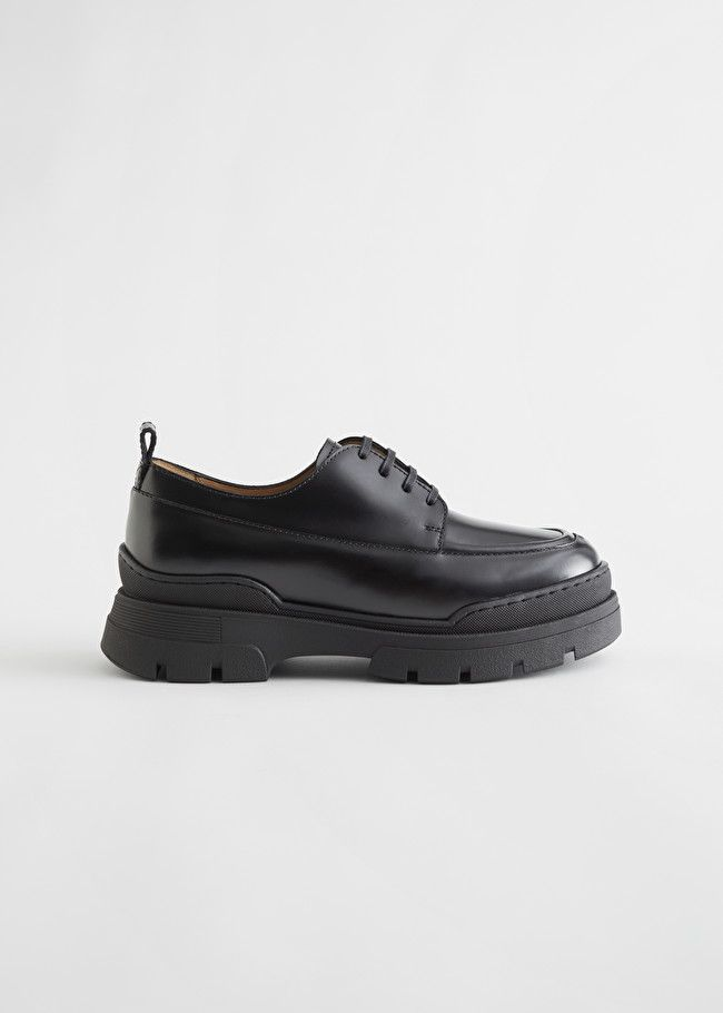& Other Stories Chunky Sole Leather Oxfords