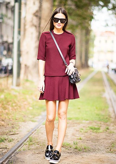 Skater Skirt + Loafers