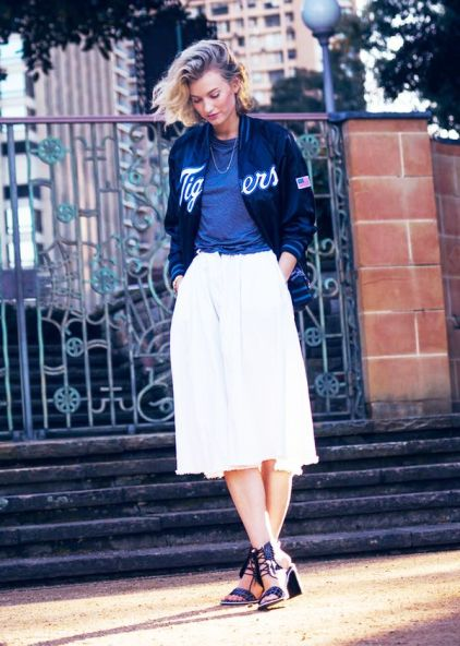 Bomber Jacket + Block Heels