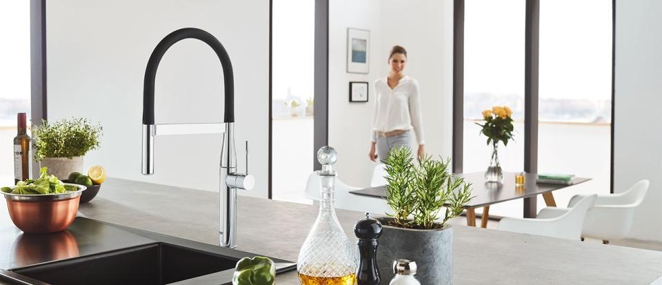 robinet de cuisine robinetterie grohe