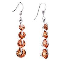 Earrings - topaz november birthstone crystal dangle earrings Image.