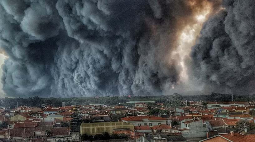 Foto mostra cenário dantesco em Vieira de Leiria