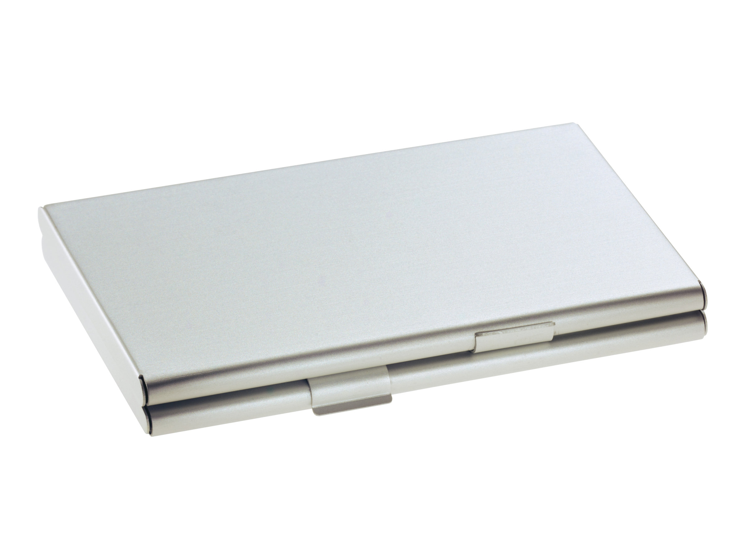 sigel porte cartes de visite aluminium argente mat zoom left angle