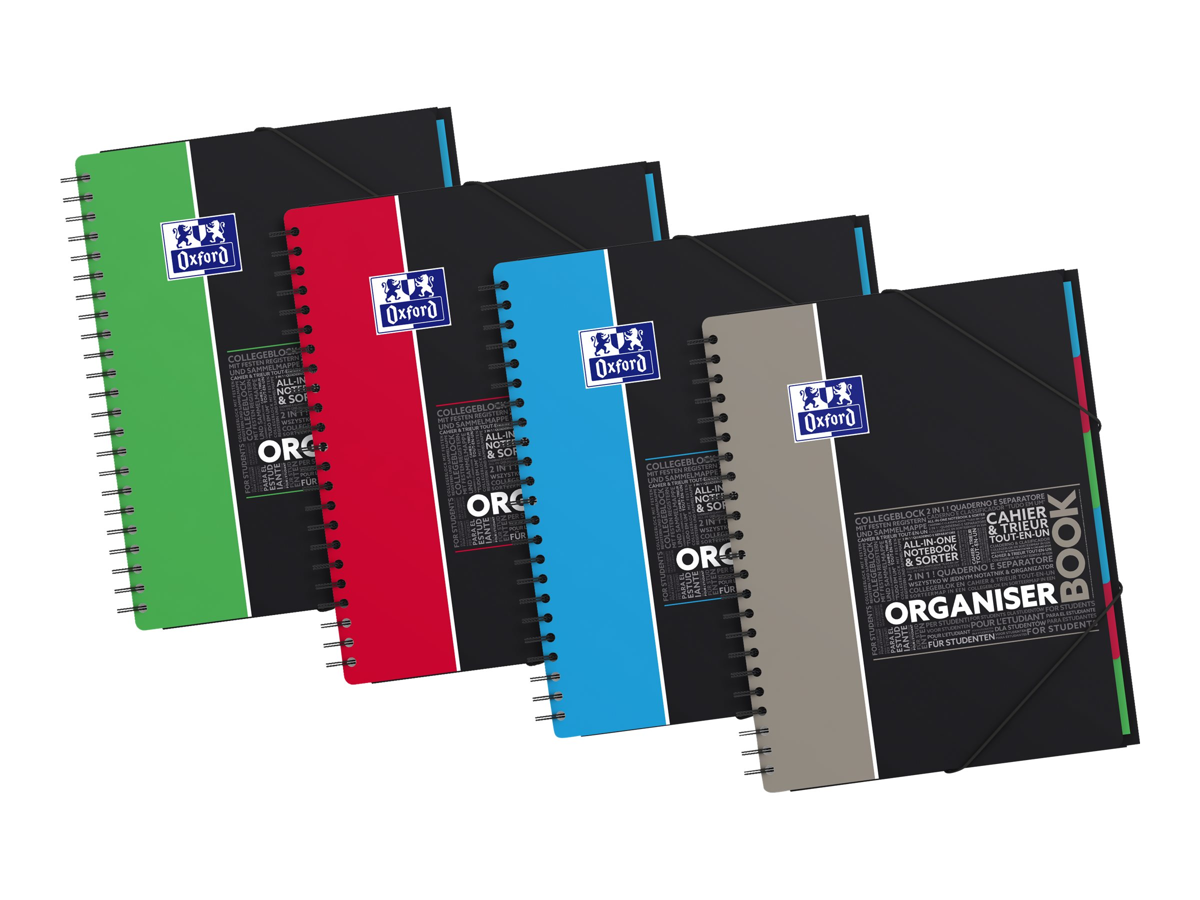 Oxford Student Organiserbook A4 Cahier 160 Pages