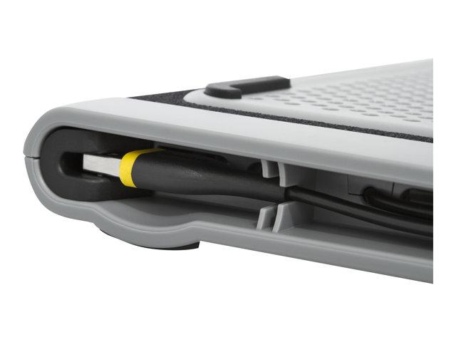 targus dual fan chill mat support pour ordinateur portable avec 2 ventilateurs de refroidissement