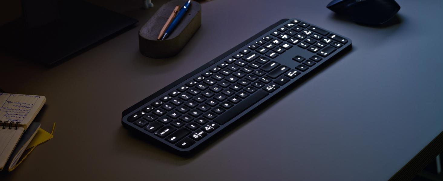 Logitech Mx Keys Bluetooth Tastatur Deutsch Qwertz Windows Graphit Beleuchtet Ergonomisch Multipair Funktion Kaufen