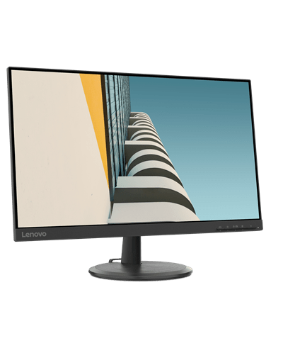 Lenovo C24-20 23.8 Inch FHD VA Monitor 75 Hz 4 ms VGA+HDMI 3-side borderless- Raven Black