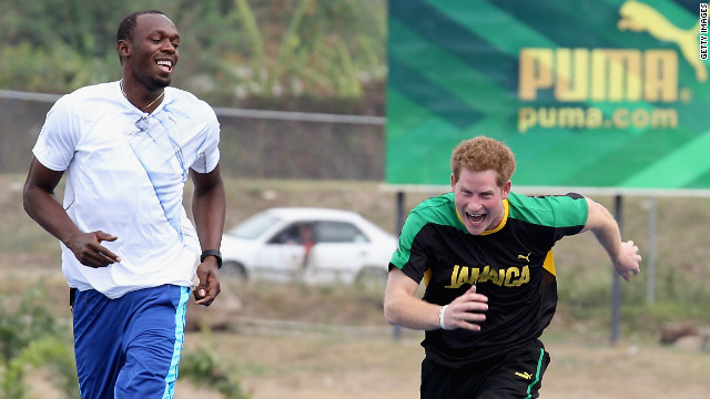 """There's always the unexpected with Harry,"" says Larcombe, recalling a trip to Jamaica in 2012 when the prince challenged sprinter Usain Bolt to a race. ""Nobody knew he was going to do that."""