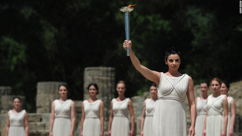2017 Olympic Flame Lit In Ancient Stadium Cnn  sc 1 st  Decoratingspecial.com & Archer Lighting Olympic Flame | Decoratingspecial.com azcodes.com