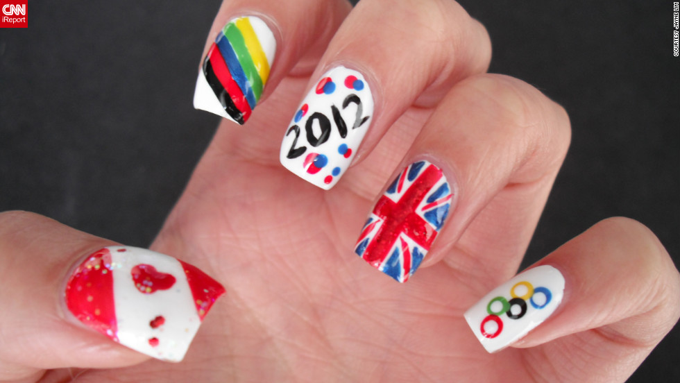 Jayne Lim Designed Her Manicure To Represent Home Country Of Canada And Host