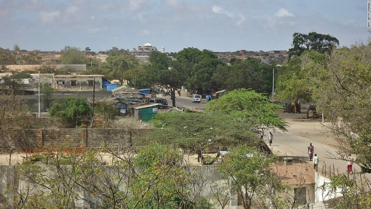 The southern Somali port city of Kismayo.